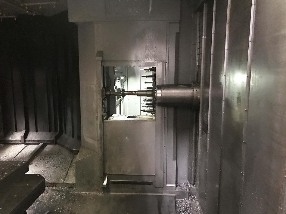 """OKK HM-1600 HORIZONTAL MACHINING CENTER, Fanuc 31i CNC Control, (2) Pallets 62.99"""" x 49.21"""", X=94"""", Y=64"""", Z=68"""", Full Contouring B-Axis, 8000 Max RPM Spindle, 116 ATC, 1000 PSI Thru Spindle Coolant, New 2015."""