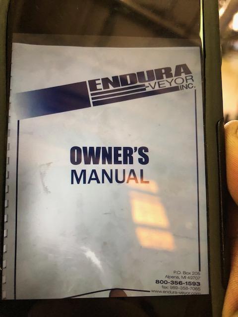 "220"" x 12"" Endura Cleated Steel Belt Conveyor"