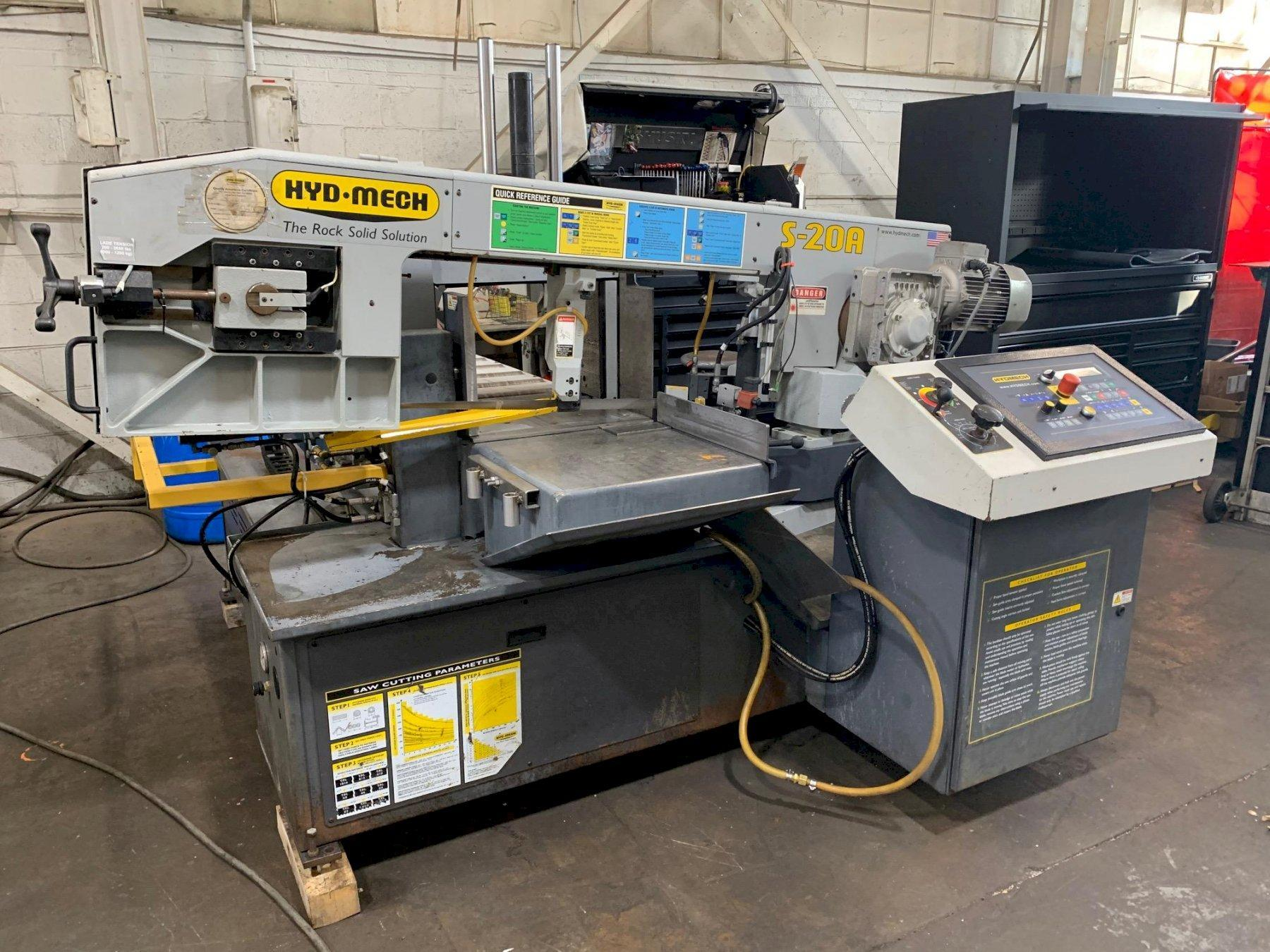 USED HYD-MECH MODEL S-20A SERIES III FULLY AUTOMATIC MITERING BANDSAW, STOCK# 10670, YEAR: 2011