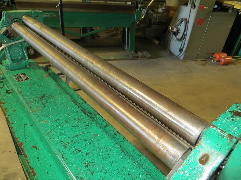 """2"""" Diameter x 3 ft, Tennsmith Slip Roll, Model SR36 w/ Bench Stand"""