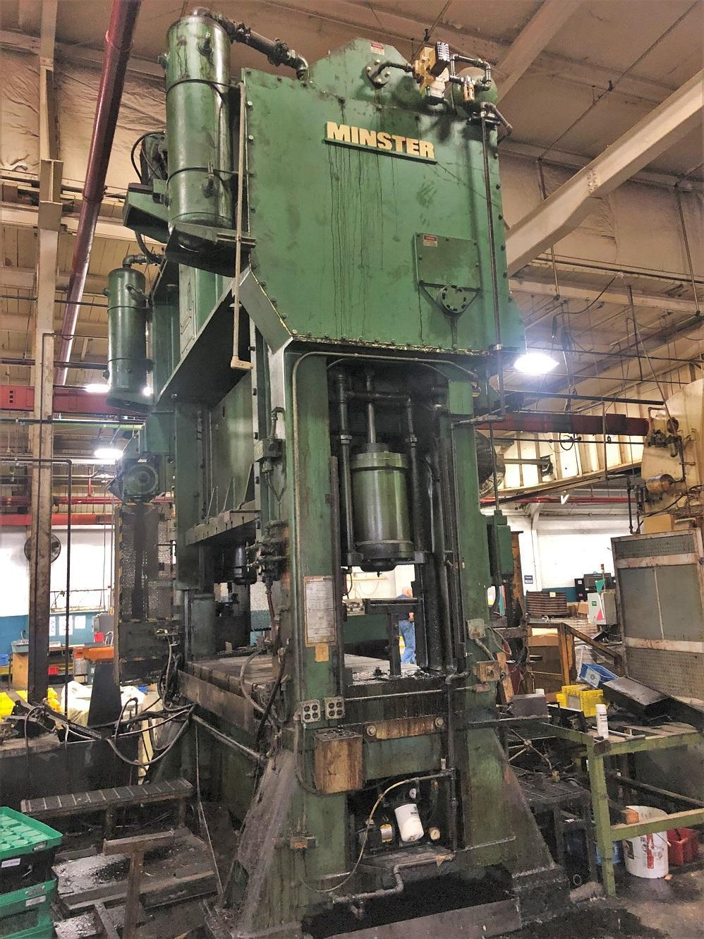 "300 ton E2 Minster 96""x48"" SSDC Stamping Press. STOCK # 1903820"