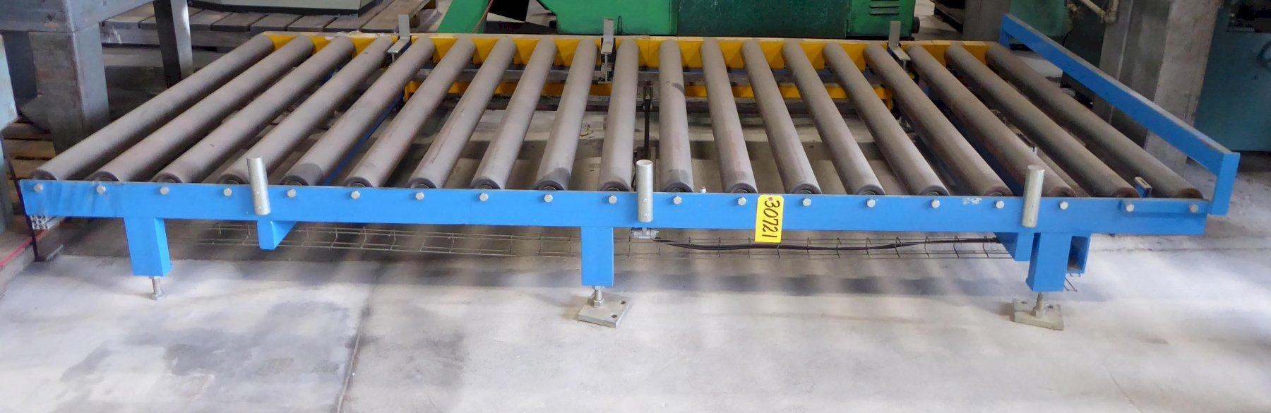 "Biele Power Roller Conveyor, 67"" Wide, 147"" Overall Length,  (19) 4-1/4"" Diameter Rolls On 8"" Centers, Approximately 18"" High-Adjustable Legs, 2011, (6) Available"