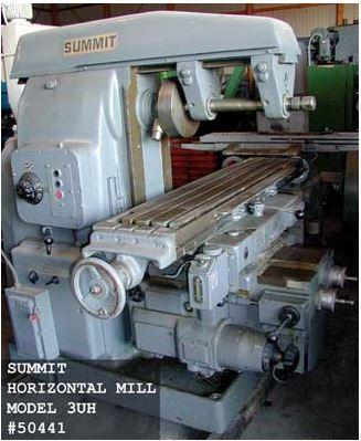 (1) PREOWNED SUMMIT HORIZONTAL MILL, MODEL #: 3UH, S/N: 7517, YEAR: 1982