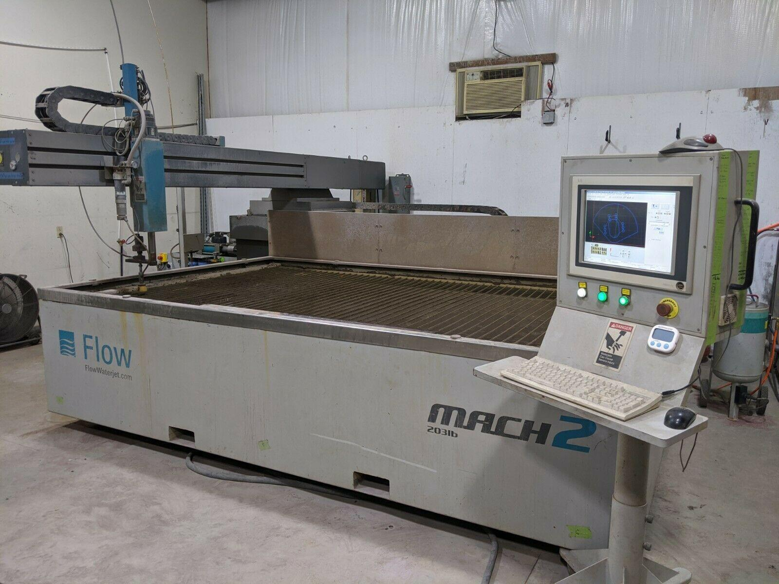 2014 Flow 4020 Mach 2, 6' x 13', 60,000 PSI Waterjet