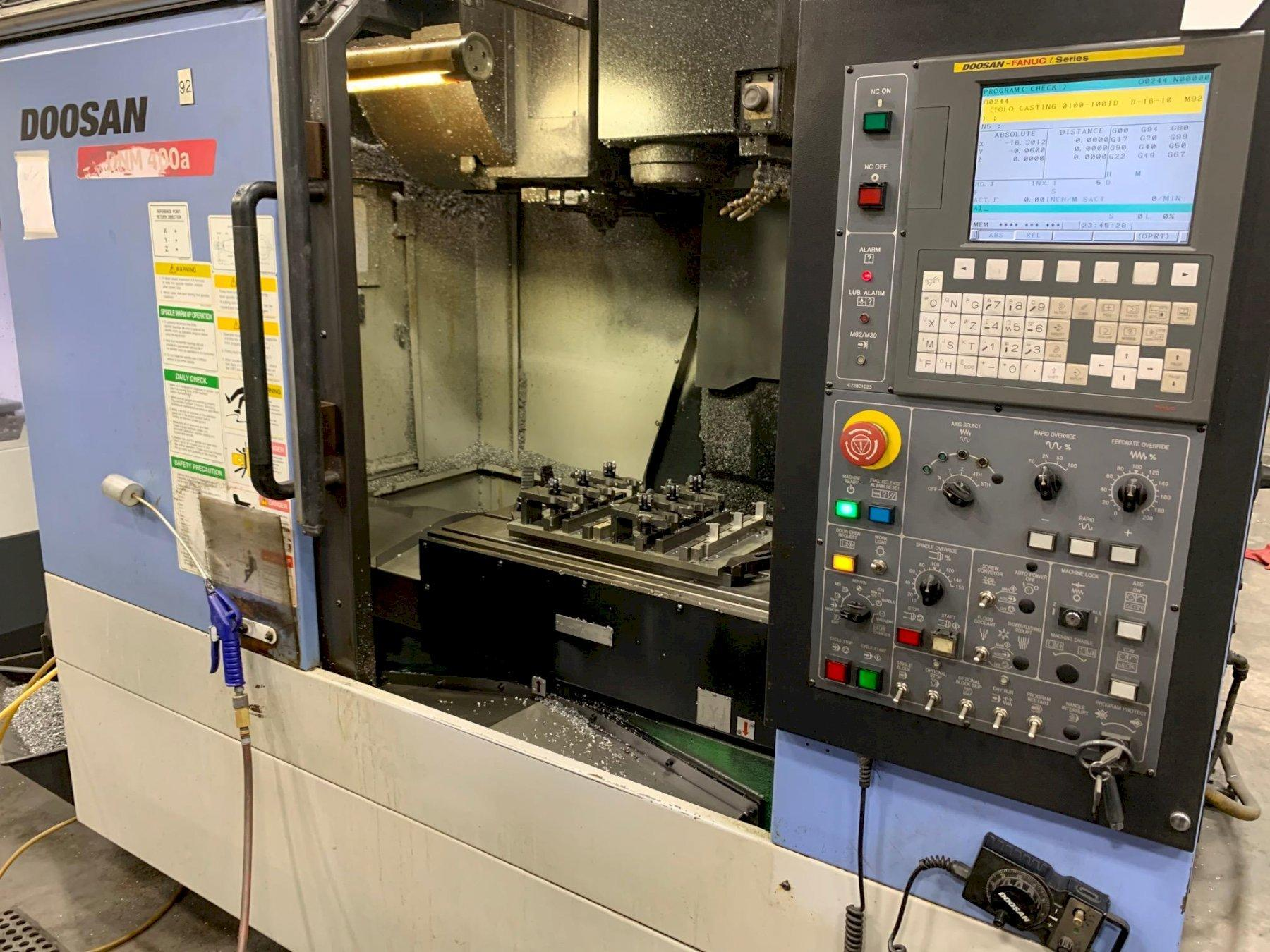 Doosan DMV 400A CNC Vertical Machining Center, New 2010