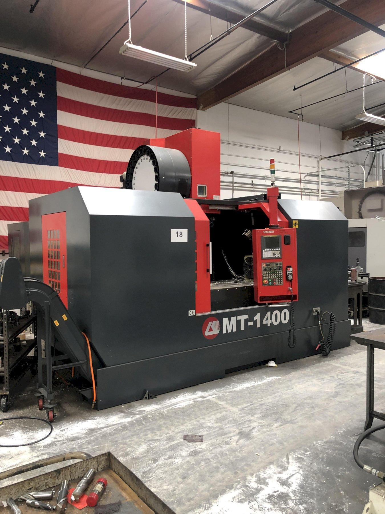 LK MT-1400 VMC, 2012, CT50 Taper, 7,000 RPMs, Box Ways. Fanuc Control Oi-MF , Travels: X-55