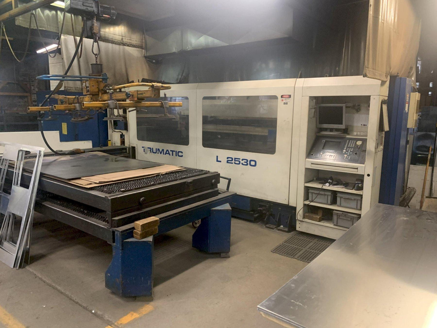 3000 WATT TRUMPF TRUMATIC MODEL #L2530 LASER WITH POWER SOURCE #TLF3000: STOCK 12438