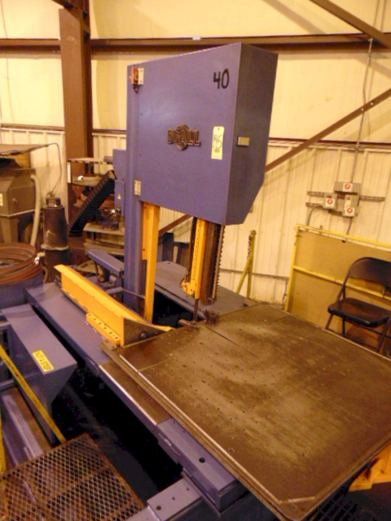 """20"""" x 25"""" DOALL VERTICAL BAND SAW, Model TF- 2025M, Operator Control Station, 20"""" x 25"""" Rectangular Capacity, 20"""" Round Capacity, Power Feed, Power Tilt (60°), Variable Speed Blade, New 2008."""