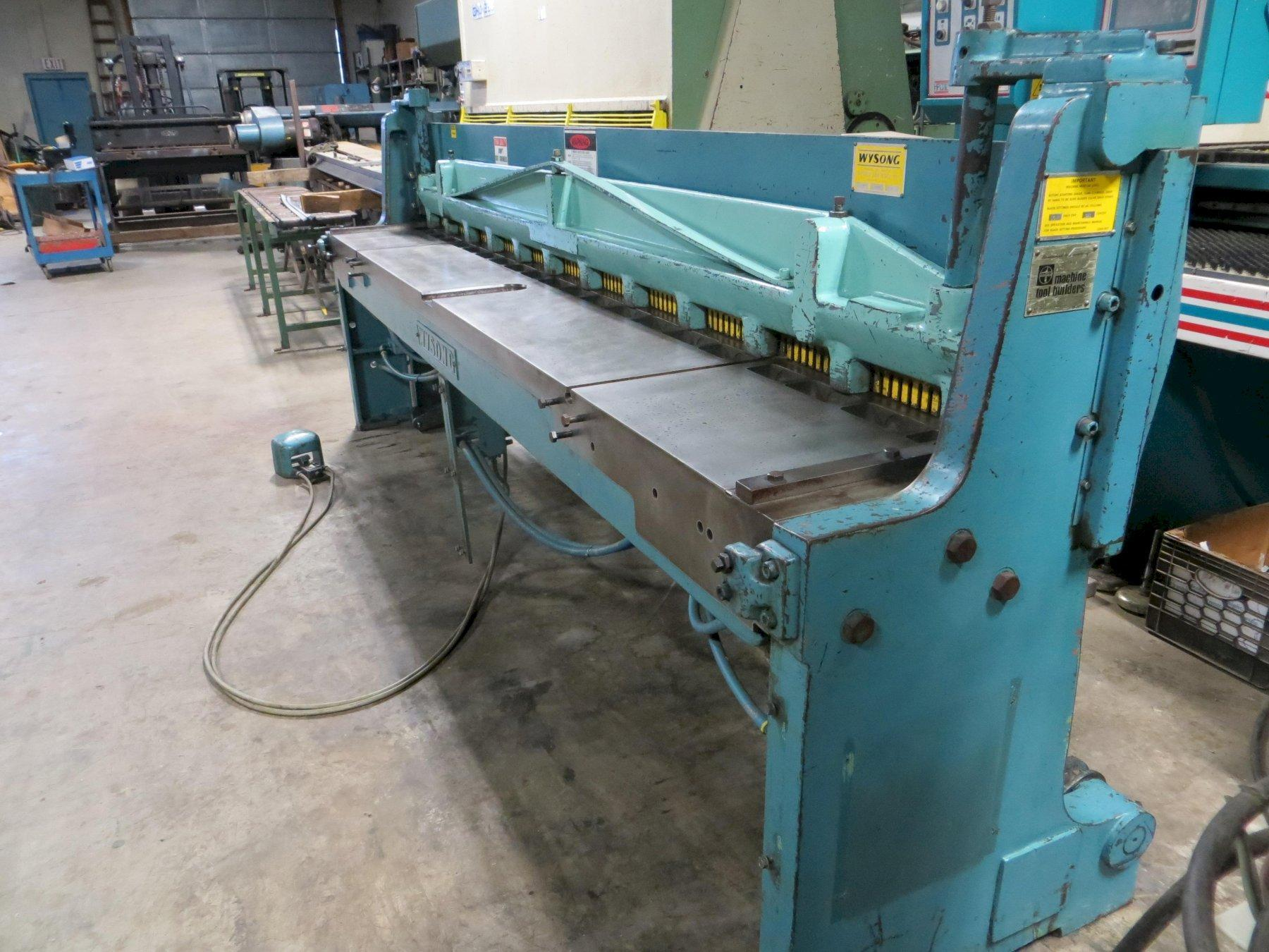 18 Ga x 10 ft. Wysong Air Operated Power Shear Model A-120