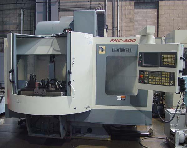 "LEADWELL FMC-800 2-Pallet, Fanuc 18i CNC Control, (2) 31.5"" x 18.1"" Pallets, X=31.5"", Y=19.7"", Z=19.9"", 10000 RPM, New 5/2004."