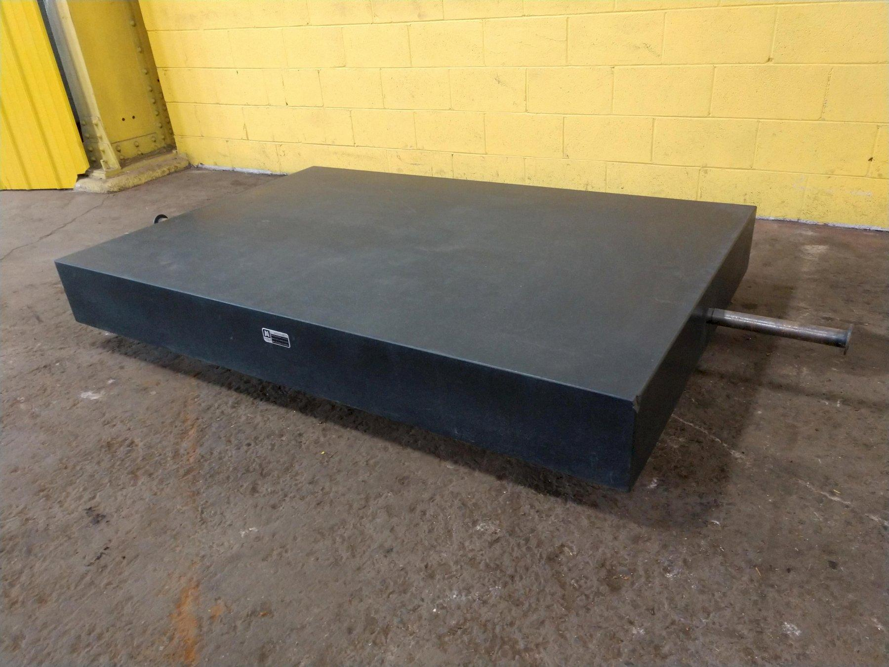 "72"" x 48"" x 8.5"" BLACK GRANITE INSPECTION TABLE PLATE: STOCK 13634"