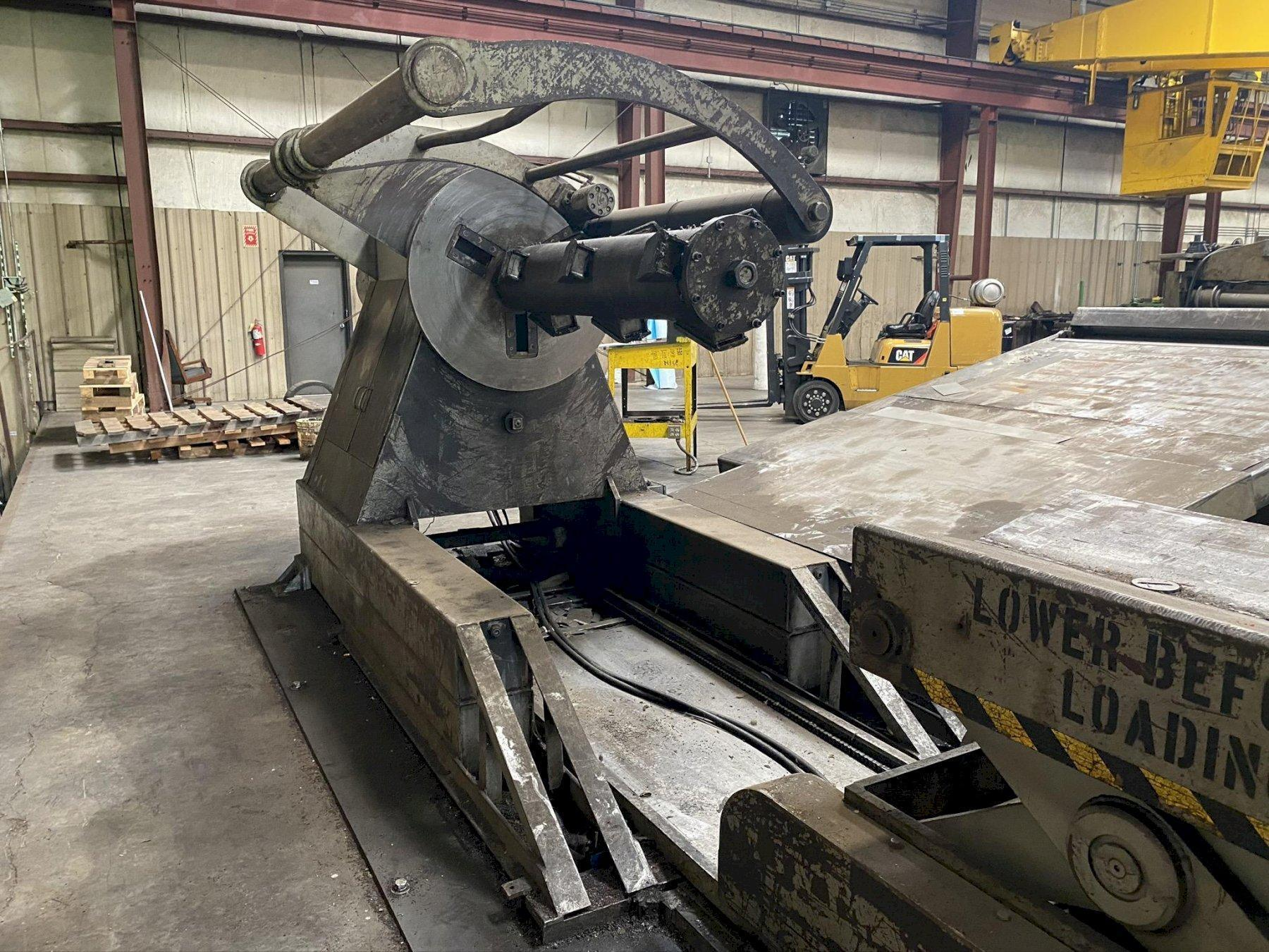 "72"" X .109"" X 40,000 LB IOWA PRECISION #40M72 SLEAR SLITTING & CUT TO LENGTH LINE STOCK# 2178"