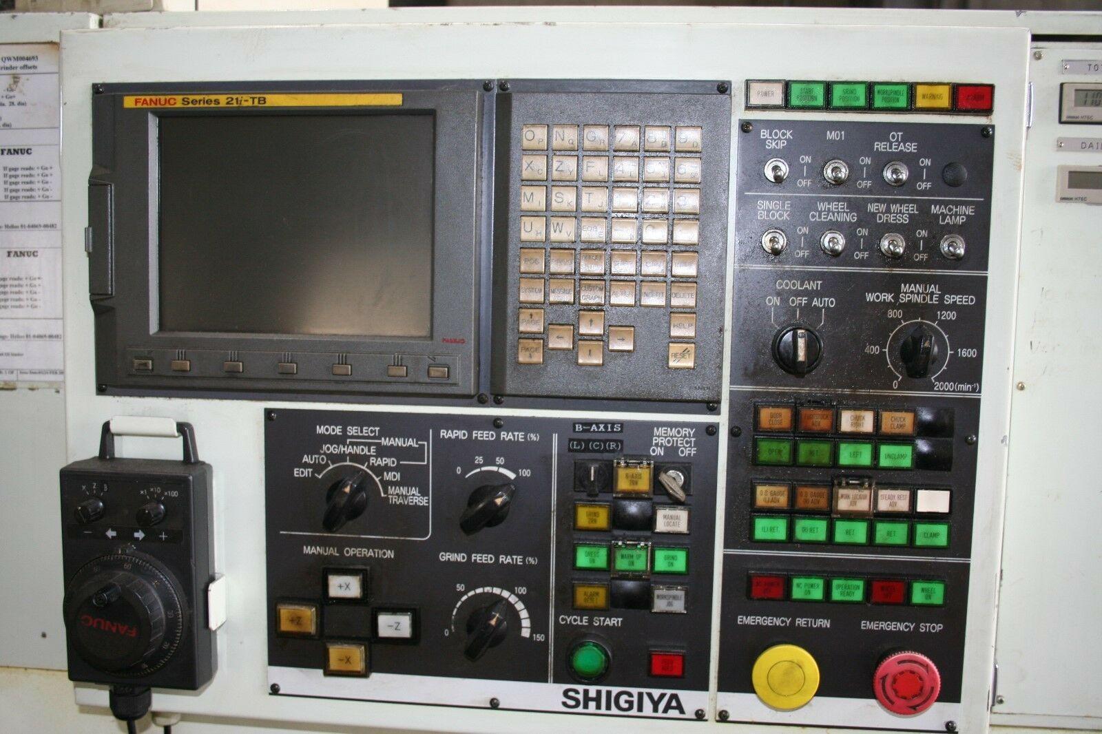 """SHIGIYA GSF-30 10""""X48"""" CINCINNATI """"ELECTRONIC COMMAND"""" PLAIN CYLINDRICAL GRINDER, New 1980, Model 380-EC."""