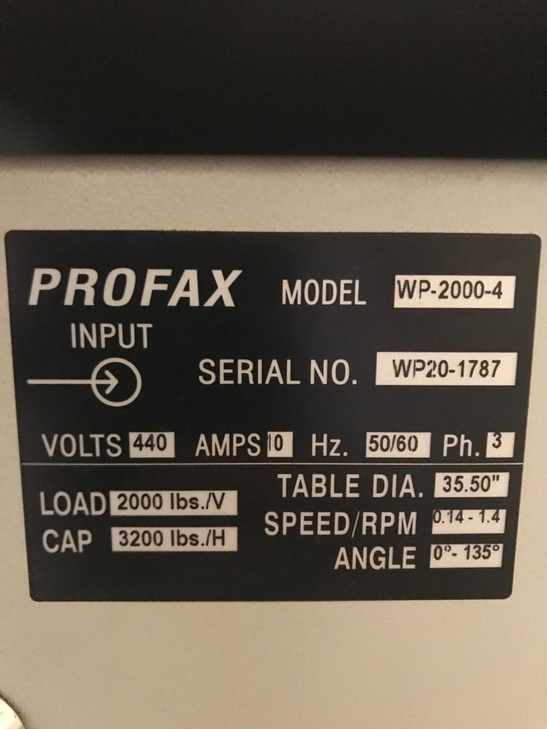 3,200 lbs Profax Welding Positioner