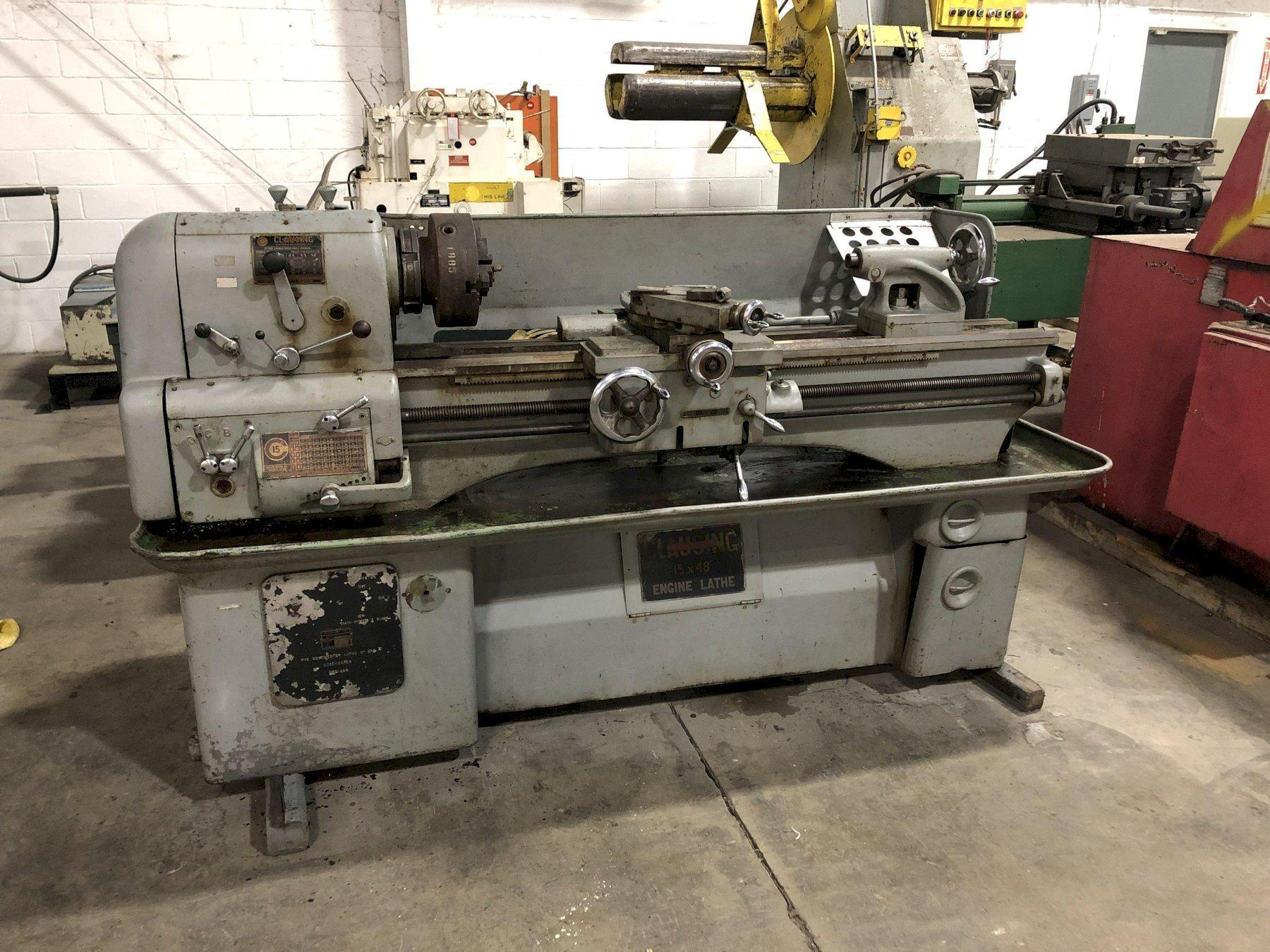 """CLAUSING COLCHESTER 15"""" X 48"""" LATHE, STOCK# 14080T"""