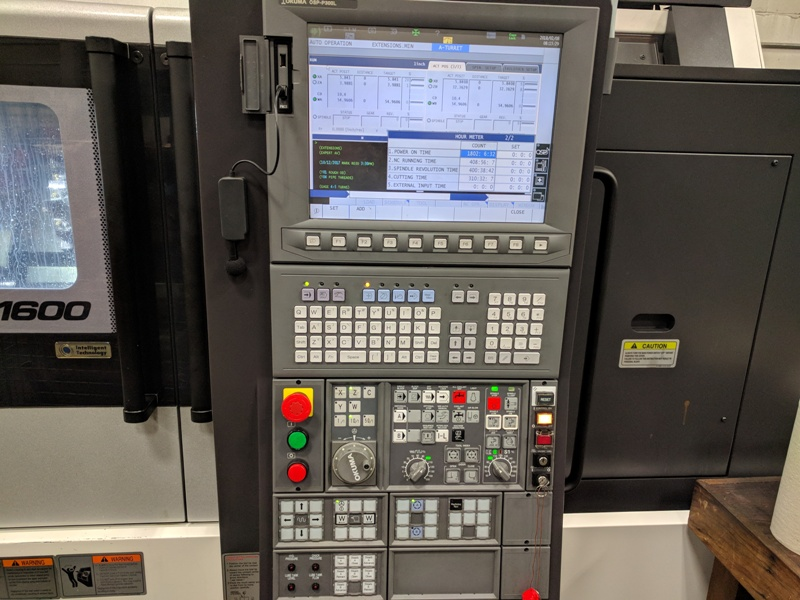 OKUMA LU-S1600-2SC X 1000 4-AXIS CNC TURNING CENTER