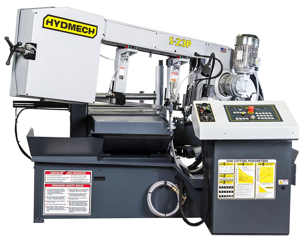 "NEW 16""H x 20""W HYD-MECH MODEL S-23P SEMI-AUTOMATIC HORIZONTAL PIVOT BAND SAW"