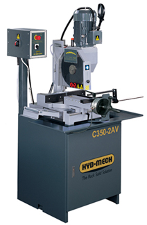 NEW HYD-MECH C350-AV MANUAL VERTICAL COLUMN COLD SAW