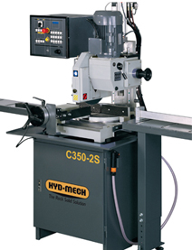 NEW HYD-MECH C350-2S SEMI-AUTOMATIC VERTICAL COLUMN COLD SAW