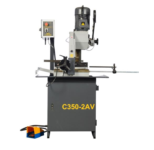 NEW HYD-MECH PNF350-2AV  MANUAL VERTICAL COLUMN COLD SAW