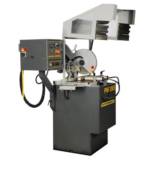 NEW HYD-MECH PNF350-2S SEMI-AUTOMATIC VERTICAL COLUMN COLD SAW