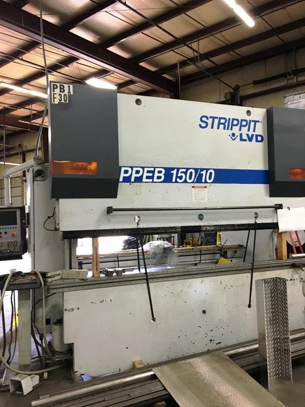 150 Ton x 10' Strippit LVD, PPEB 150BH10, 2000, 8-Axis, Lower Die Holder