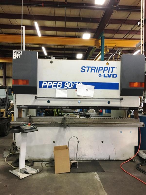 90 Ton x 10' Strippit LVD, PPEB 90BH10, 2000, 8-Axis, Lower Die Holder