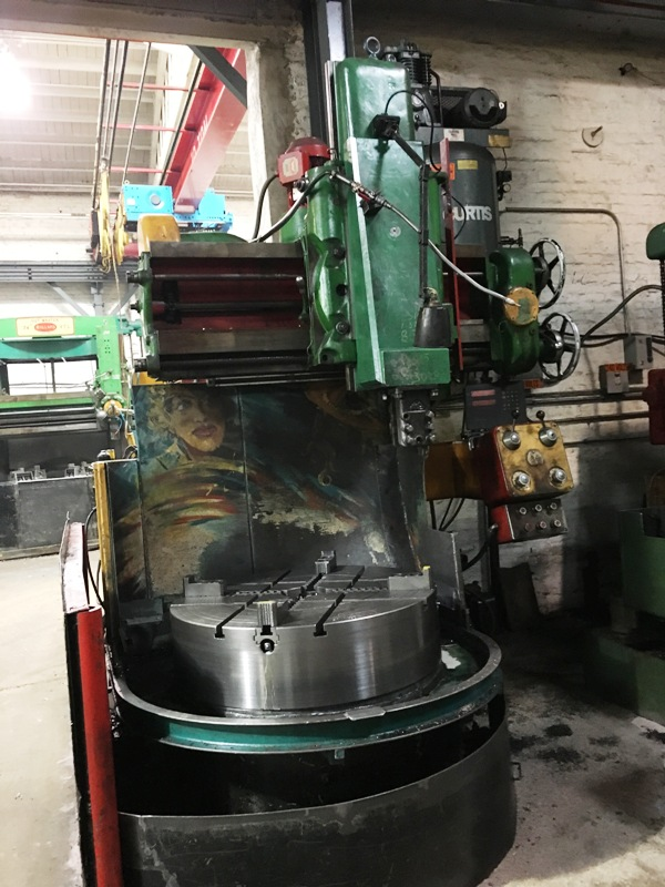 "36"" WEBSTER & BENNETT VERTICAL BORING MILL"