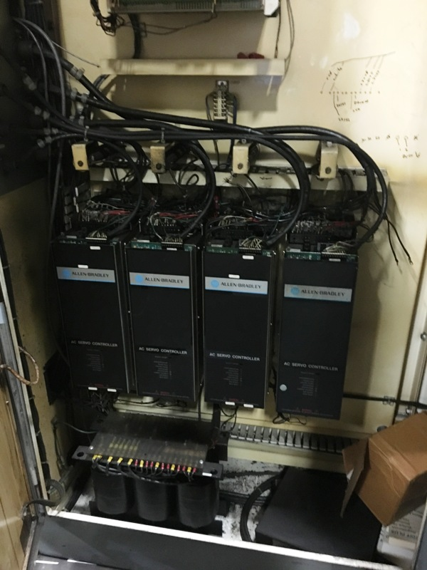 """5"""" GIDDINGS & LEWIS PC 50 HORIZONTAL TABLE TYPE CNC BORING MILL"""