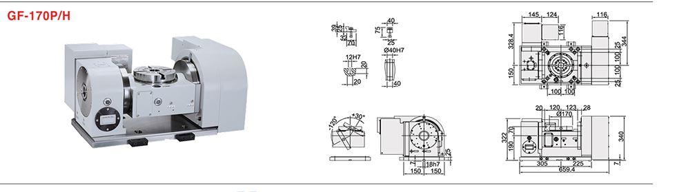 "NEW 6.69"" DETRON MODEL GFA-170S TILTING ROTARY TABLE"
