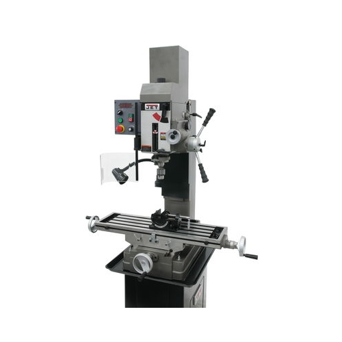 JET JMD-45VSPFT VARIABLE SPEED GEARED HEAD SQUARE COLUMN DRILL MILL WITH POWER DOWNFEED 351051