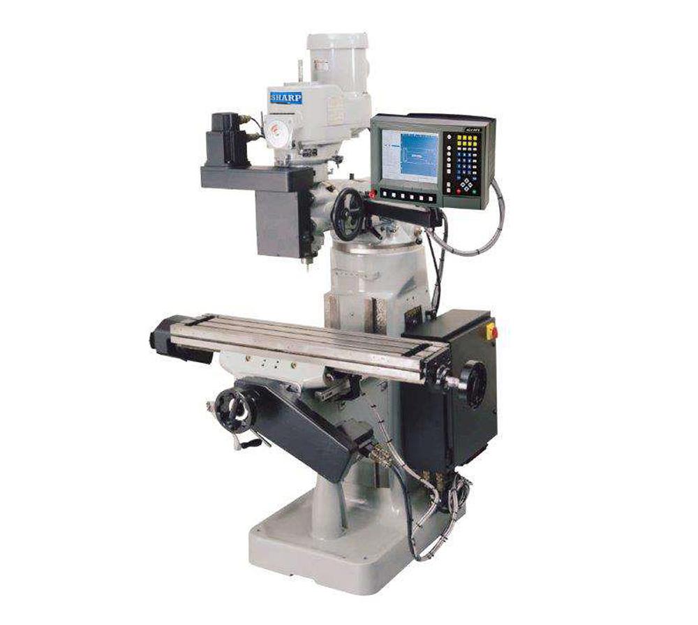 "9"" x 42"" SHARP MODEL LMV/MP-2 2-AXIS CNC KNEE MILL"