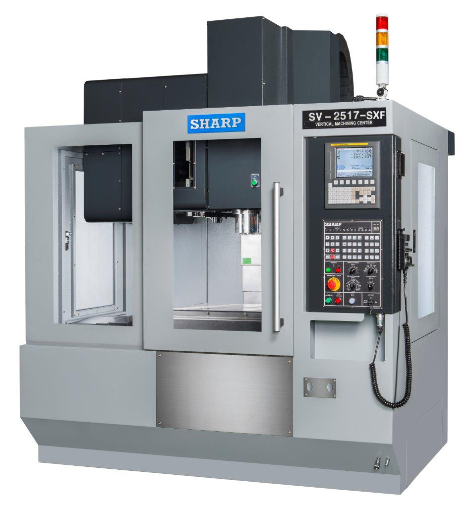 NEW SHARP SV-2517SE-F BOX WAY CNC VERTICAL MACHINING CENTER