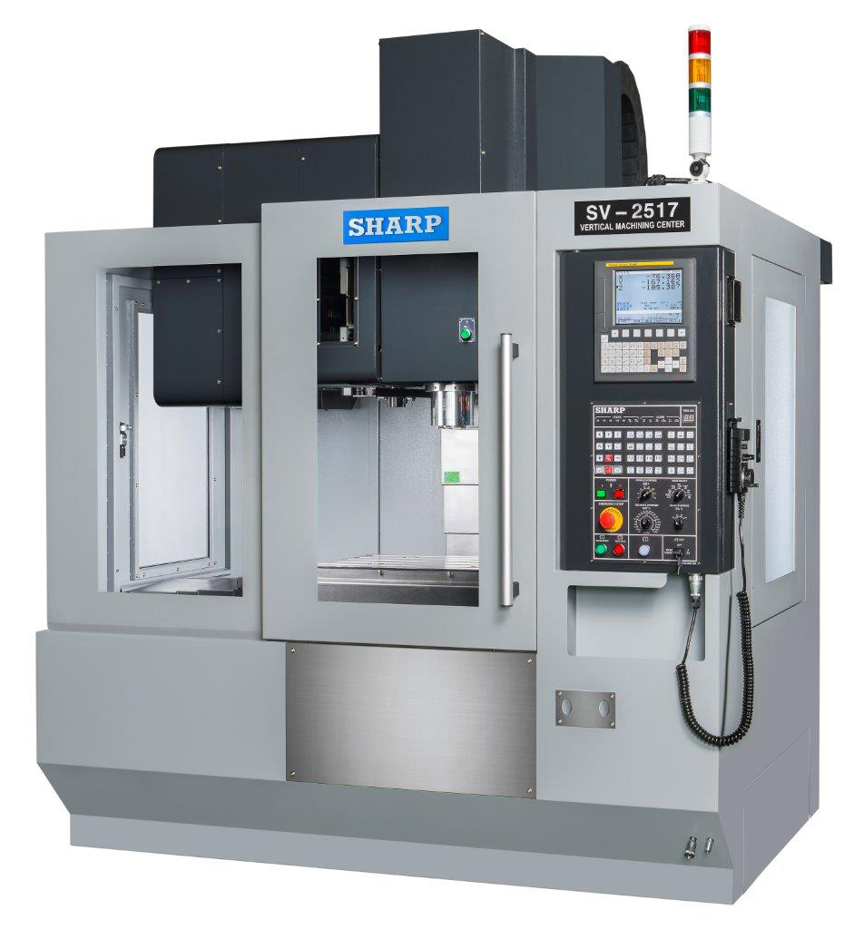 NEW SHARP SV-2517SZ-F BOX WAY CNC VERTICAL MACHINING CENTER