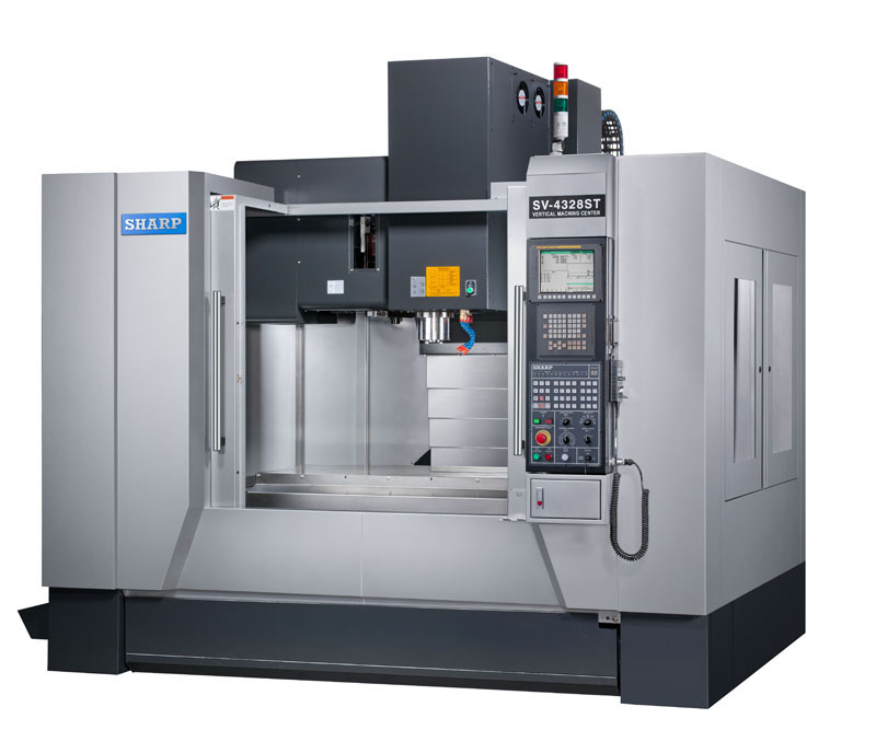 NEW SHARP SV-4328SX BOX WAY CNC VERTICAL MACHINING CENTER