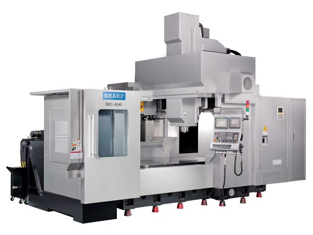 NEW SHARP SDC-8045A-F LINEAR WAY CNC VERTICAL MACHINING CENTER