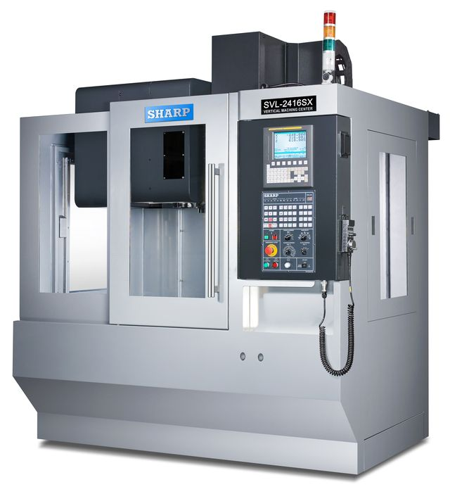 NEW SHARP SVL-2416S-F LINEAR WAY CNC VERTICAL MACHINING CENTER