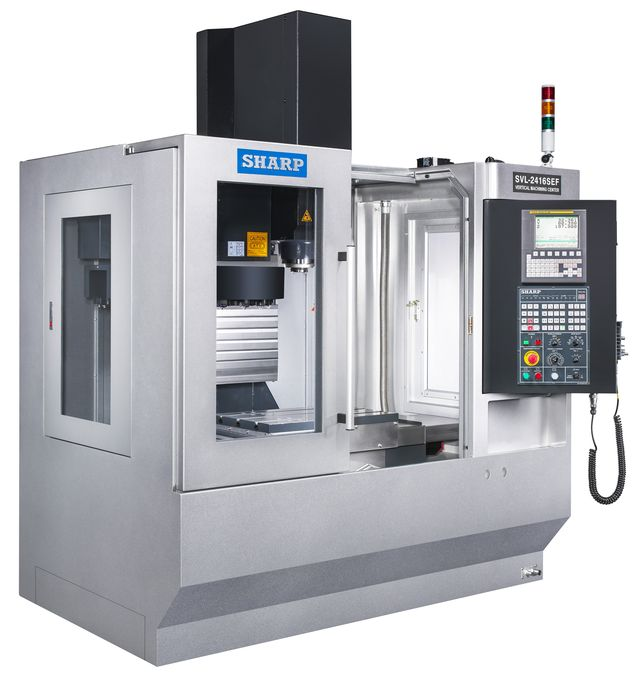NEW SHARP SVL-2416SE-F LINEAR WAY CNC VERTICAL MACHINING CENTER