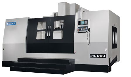NEW SHARP SVG-6336A-F GEAR HEAD CNC VERTICAL MACHINING CENTER