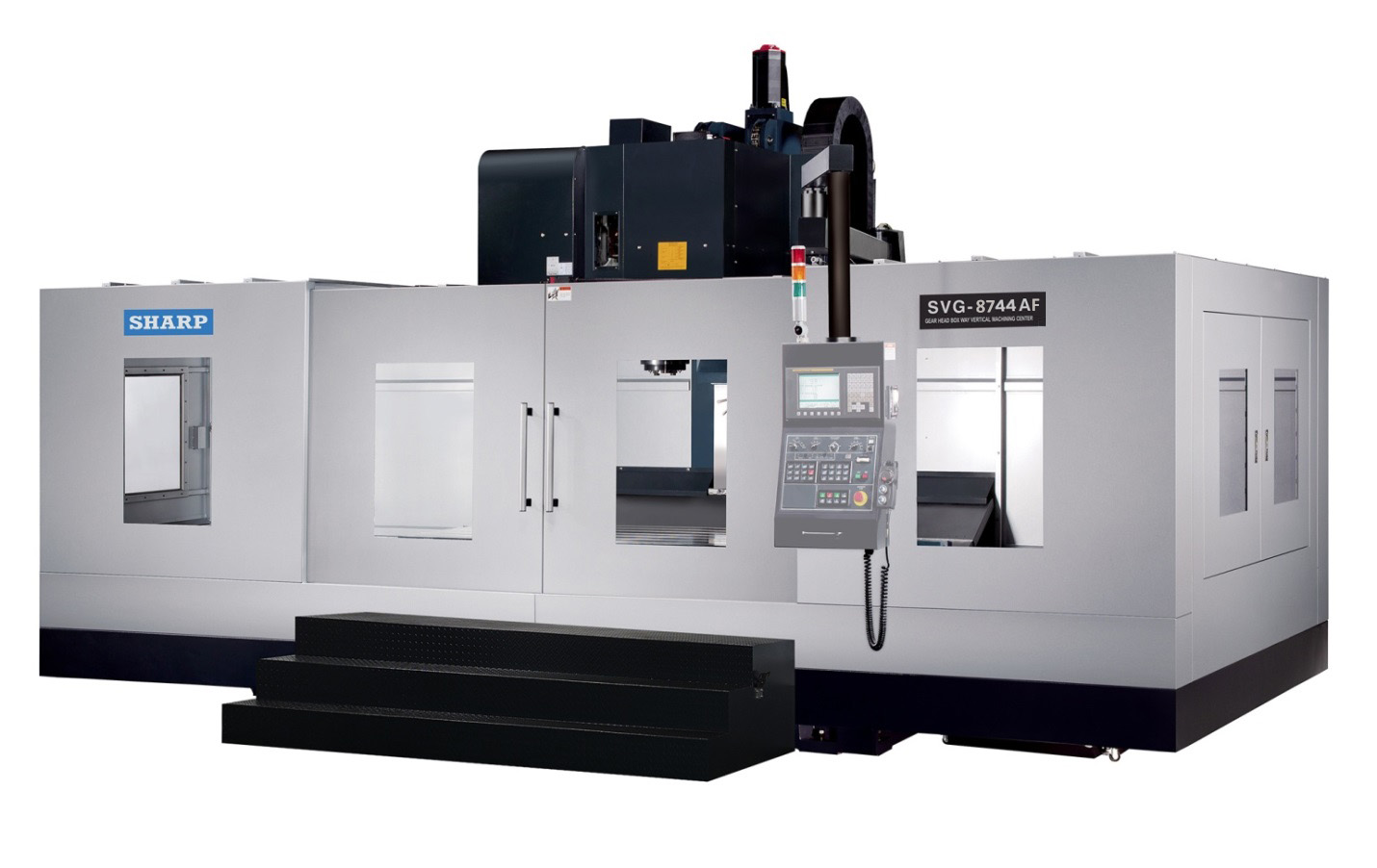 NEW SHARP SVG-8743A-F GEAR HEAD CNC VERTICAL MACHINING CENTER