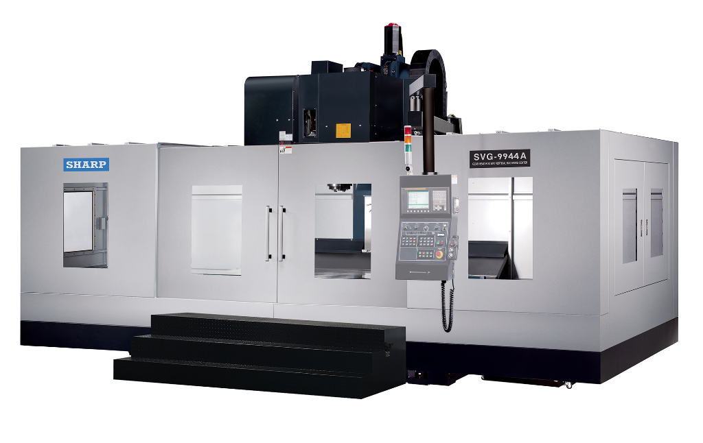 NEW SHARP SVG-9943A-F GEAR HEAD CNC VERTICAL MACHINING CENTER