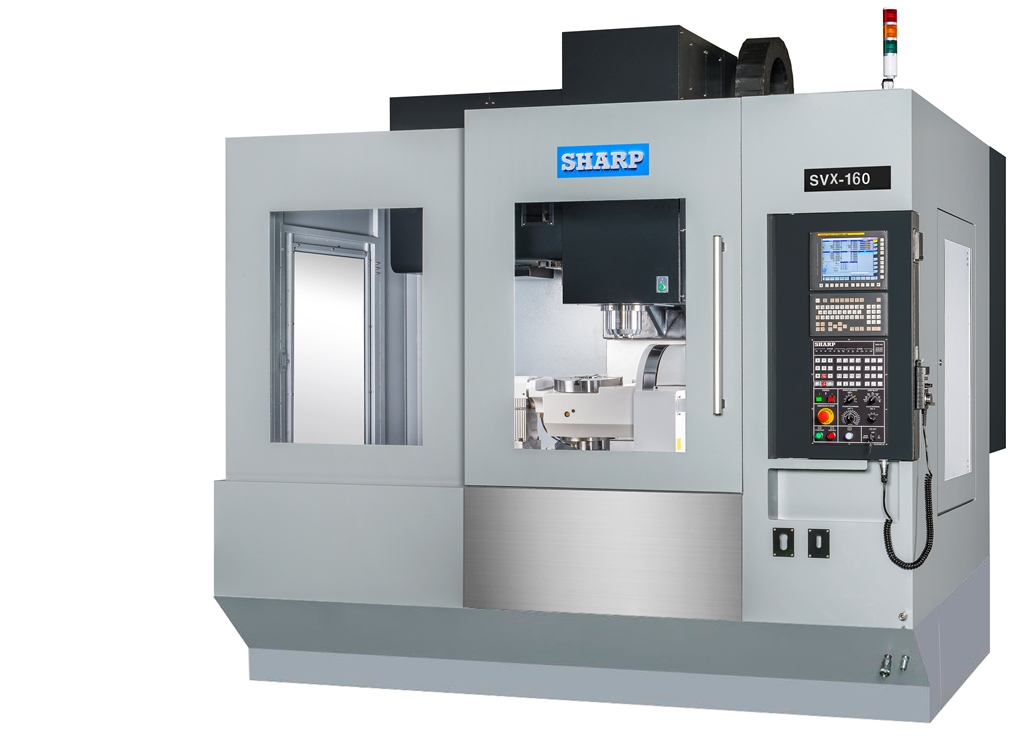 NEW SHARP SVX-160 5-AXIS CNC VERTICAL MACHINING CENTER