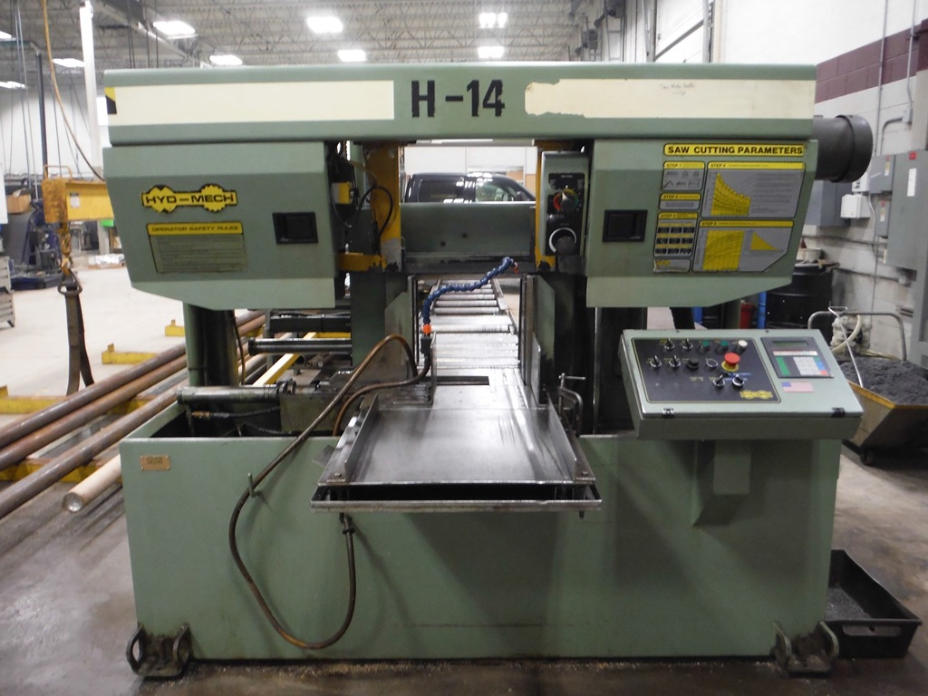 "14"" x 14"" HYDMECH H-14A AUTOMATIC HORIZONTAL BAND SAW"