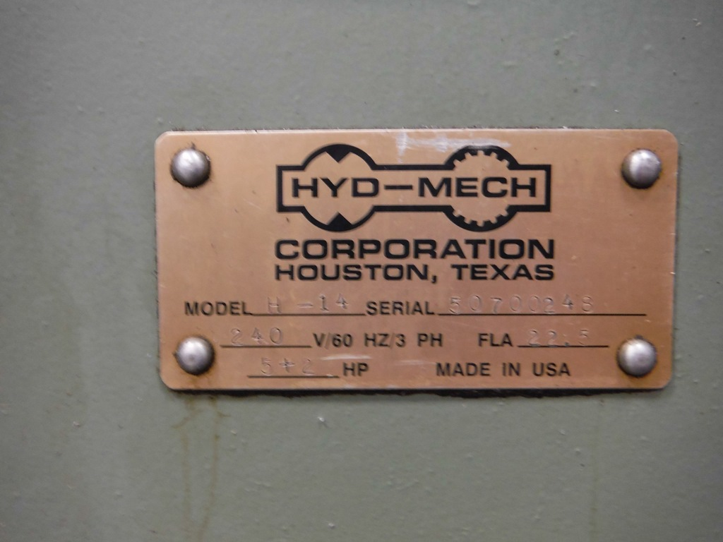 "14"" x 14"" HYDMECH H-14A AUTOMATIC HORIZONTAL BAND SAW"