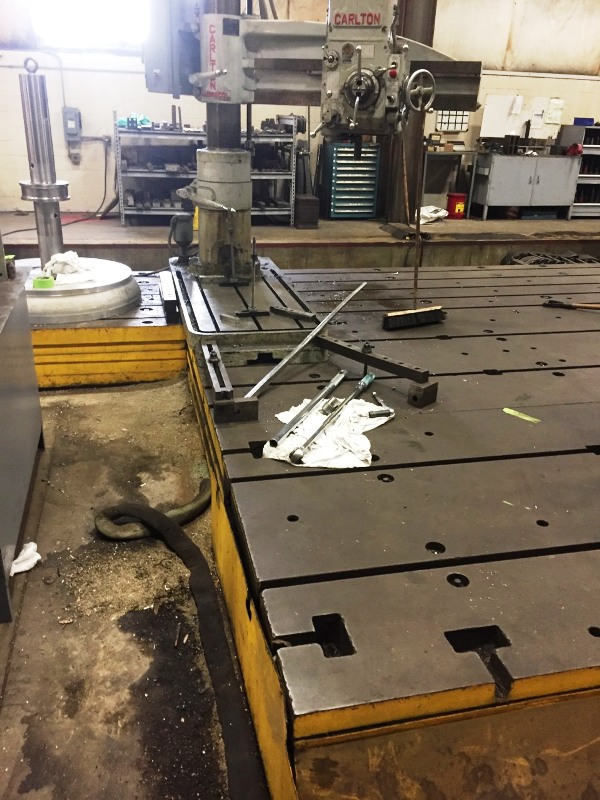 """5' X 25' X 15"""" THICK  T-SLOTTED FLOOR PLATE"""