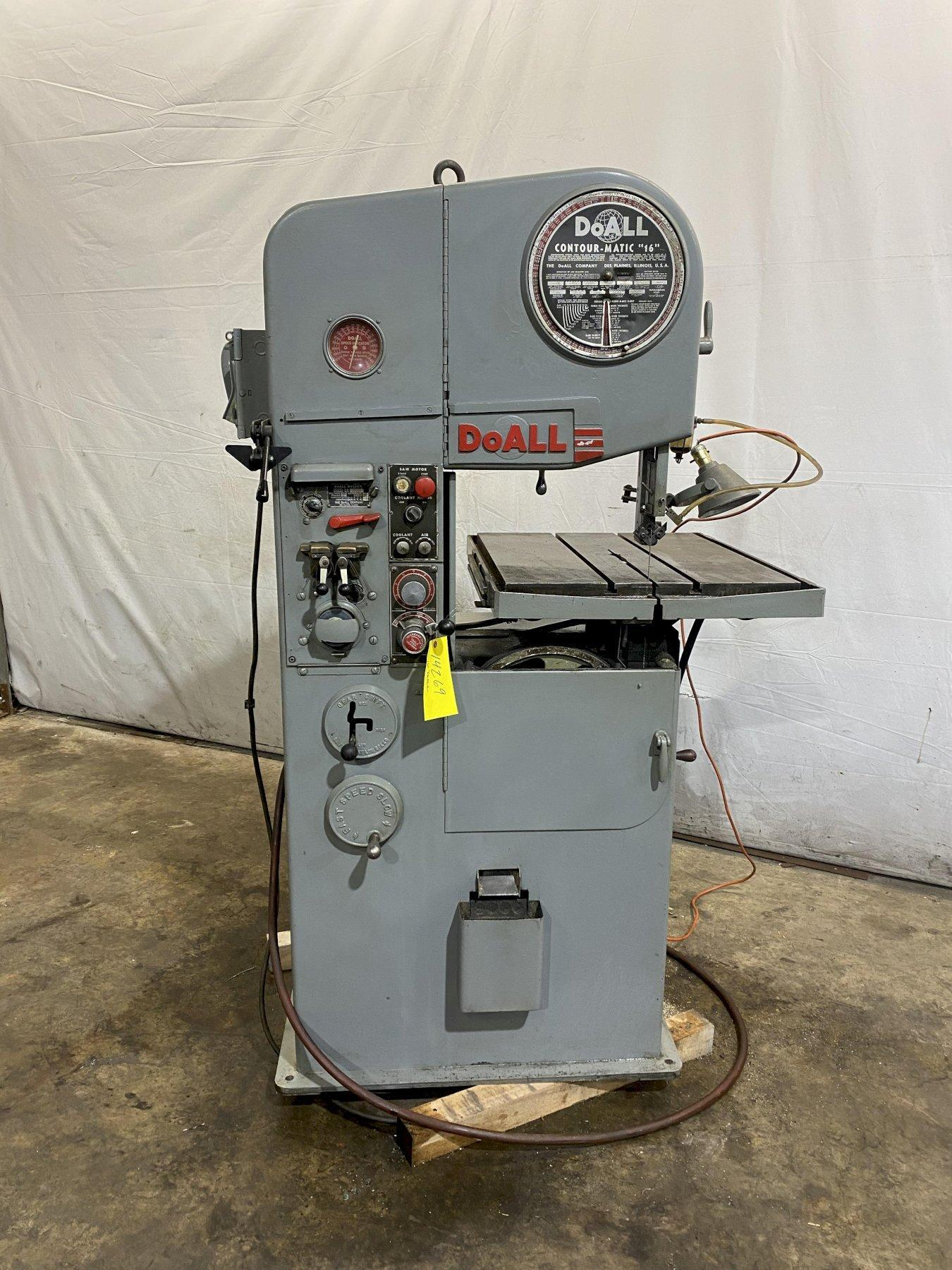 """16"""" DOALL MODEL #16-3 VERTICAL BAND SAW: STOCK 14269"""