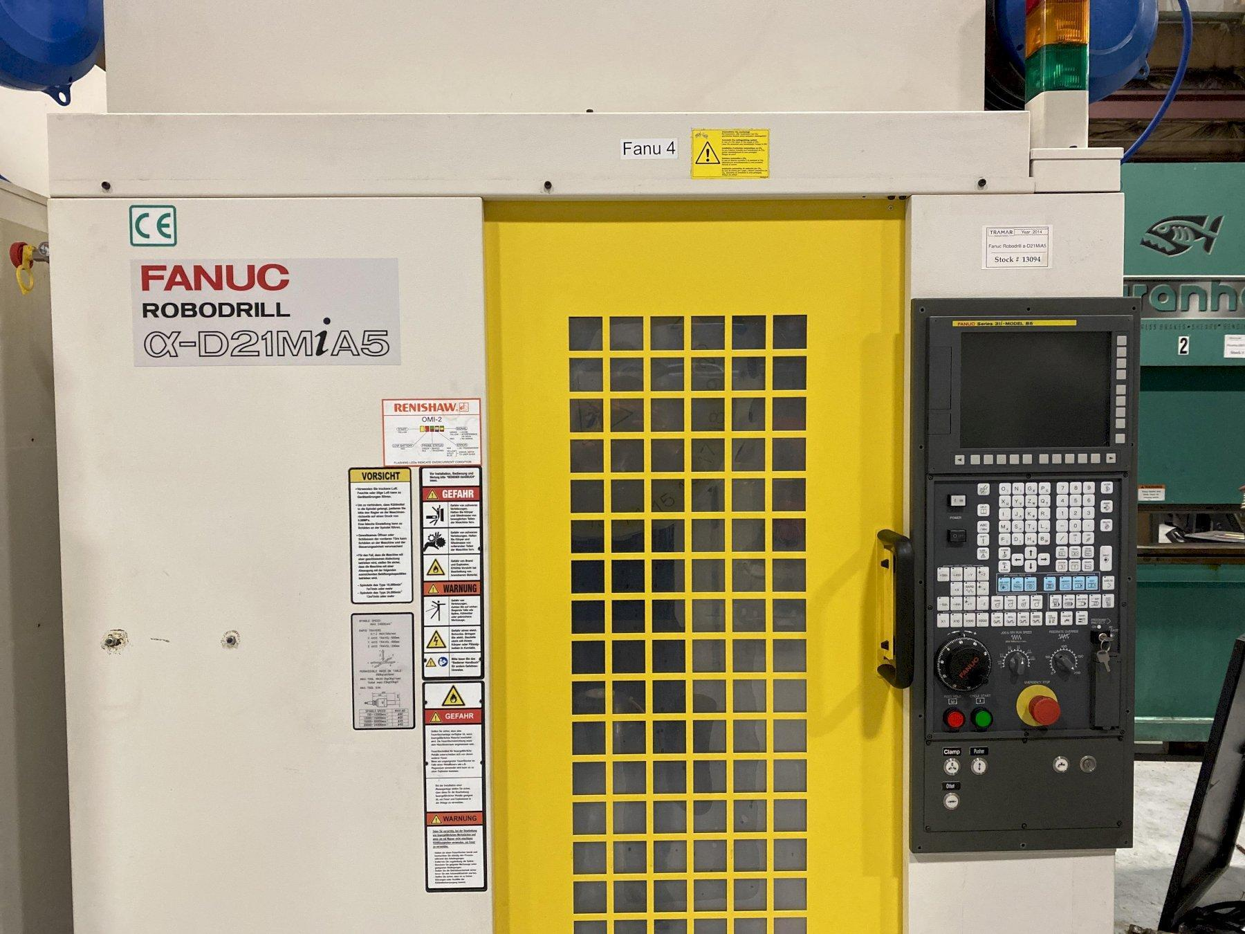 2014 FANUC Robodrill a-D21MiA5 - 5 Axis - Vertical Machining Center