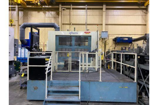 """Niigata HN-80D CNC Horizontal Machining Center, Fanuc 30iA, 31.4"""" Pallets, 60""""/48""""/40"""" Travels, 6K Spindle, CAT50, 178 Position ATC, CTS, Mist Collector, 50 HP, Full 4th Axis, 2012"""