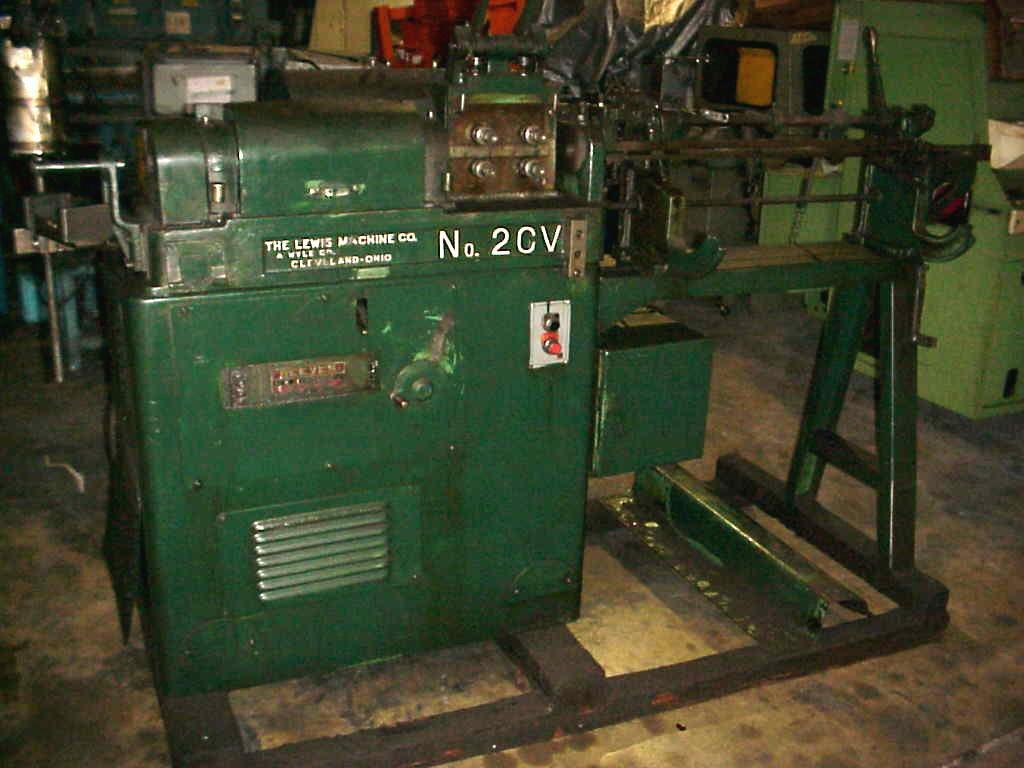 "5/16""  Lewis 2CV Straight And Cut Machine"