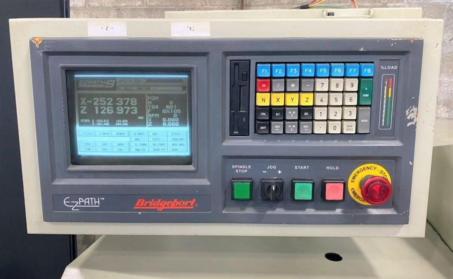 "BRIDGEPORT ROMI EZ PATH S, Bridgeport CNC Control, 8"" Chuck, 17"" Swing, 4 Position Turret, 40"" Centers w/ Tailstock, New 1998."